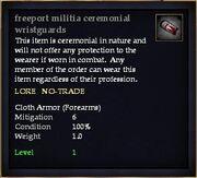 Freeport militia ceremonial wristguards