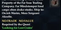 Far Windstomper food crate