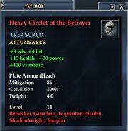Heavy Circlet of the Betrayer