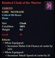 Kindred Cloak of the Warrior