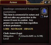 Ironforge ceremonial bargainer pantaloons