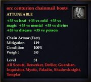 Orc centurion chainmail boots