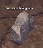 Broken stele fragment