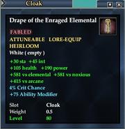 Drape of the Enraged Elemental
