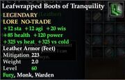 Leafwrapped Boots of Tranquility