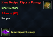 Rune Recipe- Riposte Damage
