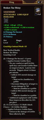 Broken Toe Shiny