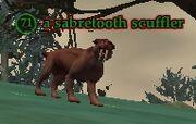 A sabretooth scuffler
