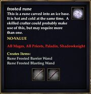 Frosted rune