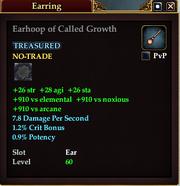 Earhoop of Called Growth