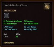 Hooluk-Feather Charm