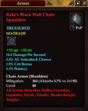 Rake's Black Wolf Chain Spaulders