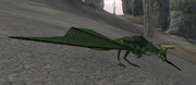 An emerald drake