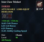 Iron Claw Trinket