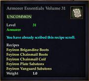 Armorer Essentials Volume 31