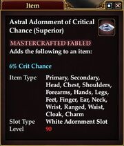 Astral Adornment of Critical Chance (Superior)