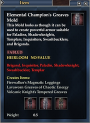 Elemental Champion's Greaves Mold