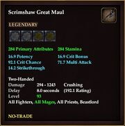Scrimshaw Great Maul
