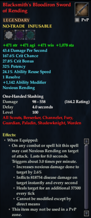Blacksmith's Bloodiron Sword of Rending