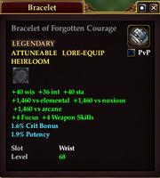 Bracelet of Forgotten Courage
