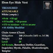 Ebon Eye Hide Vest