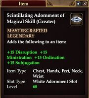 Scintillating Adornment of Magical Skill (Greater)