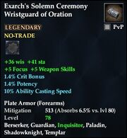 Exarch's Solemn Ceremony Wristguard of Oration