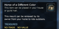 Horse of a Different Color (House Item)