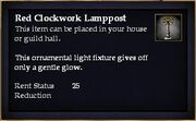 Red Clockwork Lamppost