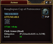 Roughspun Cap of Putrescence