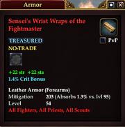 Sensei's Wrist Wraps of the Fightmaster