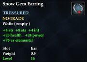 Snow Gem Earring