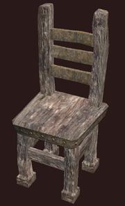 A pristine primitive elm chair (Visible)