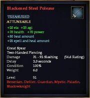 Blackened Steel Poleaxe
