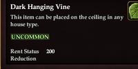 Dark Hanging Vine