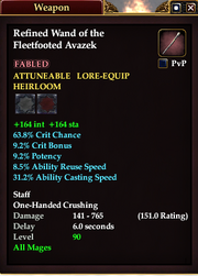 Refined Wand of the Fleetfooted Avazek
