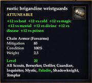 Rustic brigandine wristguards