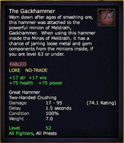 The Gackhammer