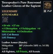 Treespeaker's Pure Rosewood Leather Gloves of the Sapient