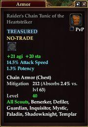 Raider's Chain Tunic of the Heartstriker