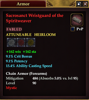 Sacrosanct Wristguard of the Spiritweaver