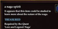 A naga spirit