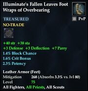Illuminate's Fallen Leaves Foot Wraps of Overbearing