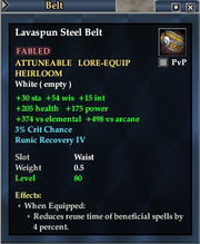 Lavaspun Steel Belt
