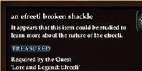 An efreeti broken shackle