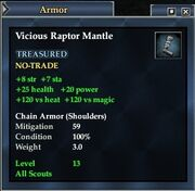 Vicious Raptor Mantle