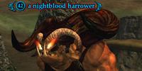 A nightblood harrower