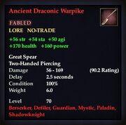 Ancient Draconic Warpike