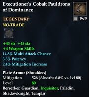 Executioner's Cobalt Pauldrons of Dominance