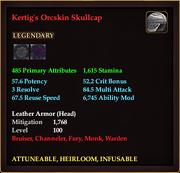 Kertig's Orcskin Skullcap